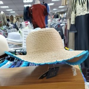 Blue straw hat by inc company new arrival
